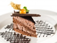 Chocolate brownie fudge cake